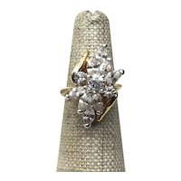 Gold 18K HGE  CZ Ring Size 5