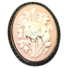 Celluloid Floral Brooch Pendant