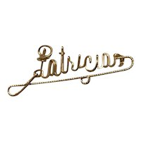 1940'S Gold Filled Wire Name Pin