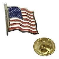 Gold Tone American Flag Lapel Pin