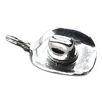 Sterling Silver Cowboy Hat Charm