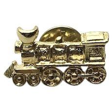 Gold Tone Locomotive Lapel Pin