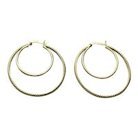 Silver Gilt Double Hoop Earrings
