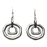 Sterling Silver Dangle Pierced Earrings