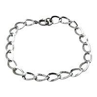 "Sterling Silver Charm Bracelet 7 1/2"""