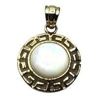 Sterling Vermeil Mother Of Pearl Pendant