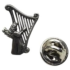 Sterling Silver Angel Of Joy Angel Lapel Pin