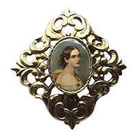 Gold Tone Lovely Lady Brooch