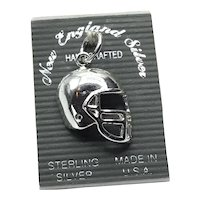Sterling Silver NOS Football Helmet Charm