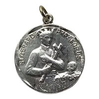 Vintage Saint Gerard Majella Sterling Silver Catholic Medal
