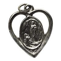 Sterling Silver Our Lady Of Lourdes Centennial Medal