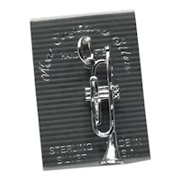 Sterling Silver NOS Trumpet Charm