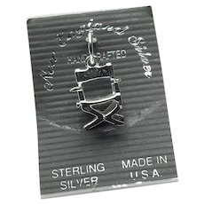 Sterling Silver Movie Director Chair Charm