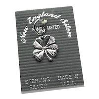 Sterling Four Leaf Clover Charm NOS