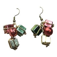 Gift Package Dangle Earrings