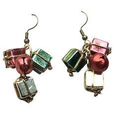 Gift Package Dangle Earrings