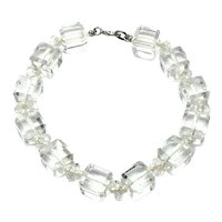 12K Gold Filled Clear Crystal Bead Bracelet
