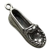 Sterling Silver Moccasin Shoe Charm