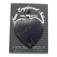 NOS Sterling Silver Heart Pendant Charm
