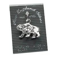 Sterling Silver NOS Bear Charm
