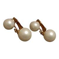 Marvella Faux Pearl Clip Earrings