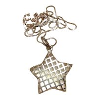 Sterling Star Shaped Pendant Necklace