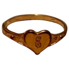 Vintage 14K Gold Filled Signet Ring With 14K Gold Top Size 10