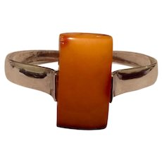 Sterling Amber Cuff Bracelet