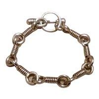 Sterling Link Toggle Bracelet