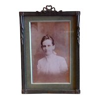 Art Deco Wooden Easel Back Photo Frame