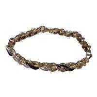 Sterling Silver & Black Beaded Link Bracelet