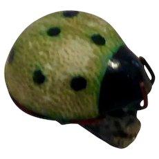 Green Lady Bug Brooch
