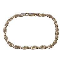 Sterling Italian Twisted Link Bracelet