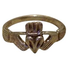 Sterling Irish Claddagh Ring Size 9