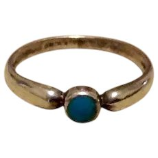 Sterling Turquoise Ring Size 6 1/2