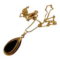 Belair 14K Gold Filled Onyx Pendant Necklace