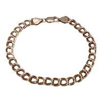 "Sterling Silver Charm Bracelet 8"""