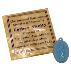 Miraculous Medal Blessed By Father Skelly