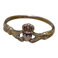 Sterling Irish Claddagh Ring Size 4 3/4