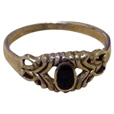 Sterling Black Onyx Ring Size 8