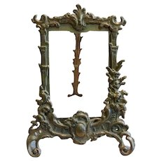 Ornate Brass Easel Back Photo Frame