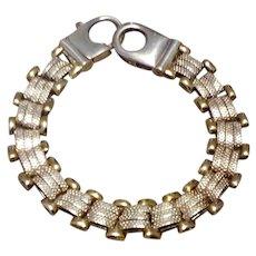 Italian Sterling Silver Gilt Bracelet