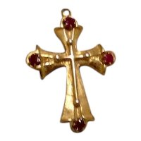 Gold Tone Spinel Cross