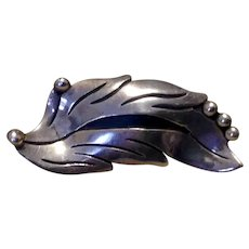 Mexican Modernist Sterling Silver Brooch Maricela
