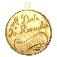 Gold Filled A Date To Remember Charm