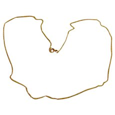 """12K Gold Filled Chain Necklace 17 1/2"""""""