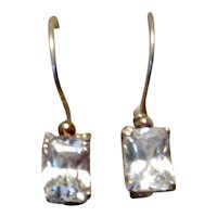 Sterling Sparkling CZ Dangle Earrings