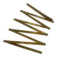 Folding Metal Metre Ruler