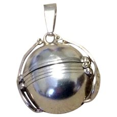 Mexican Sterling Silver Photo Ball