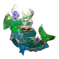 Siam Sterling Enameled Dancing Couple